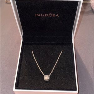 Pandora necklace square halo